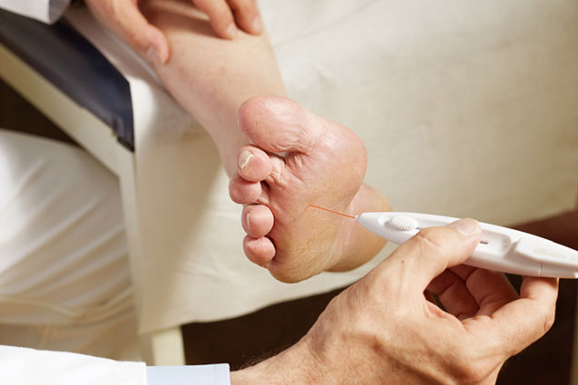 Diabetes foot assessment