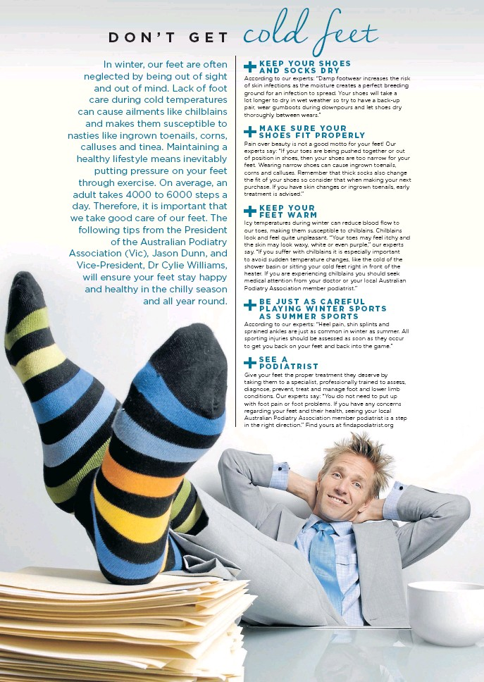 Dont get cold feet - the-sydney-morning-herald - 10 Aug 2015